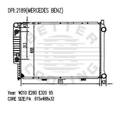 Auto Radiator For MERCEDES-BENZ W210