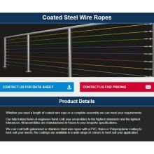 Guardrail / Sistemas de catenária / Linhas de lavagemCabeçote / Segurança / Sistemas de cabos de trava / Barreira de cabo COATED