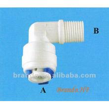 Tipo de rosca e tipo de encaixe rápido Adaptador de cotovelo masculino de 90 graus para a indústria de tratamento de água