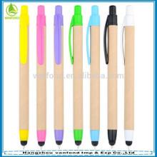 Canetas de caneta retrátil ECO amigável chinês itens promocionais para telas sensíveis ao toque