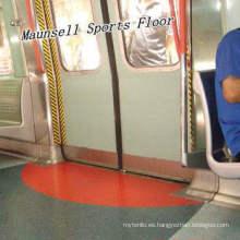 Piso de alta calidad de la fábrica de China PVC / homogéneo para el aeropuerto / el subterráneo / el autobús