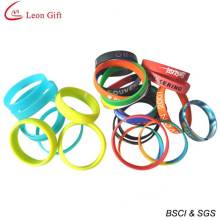 Hot Sale Colorful Custom Logo Silicone Bracelet for Gift (LM1625)