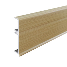 P68-A, PVC Baseboard Profile 68mm Decorative Wall Skirting Protector Skirting Board Coat Accessories OEM Customized