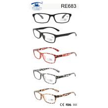 Италия Дизайнер Полные оправы Красочные очки для чтения (RE683)