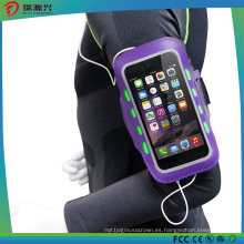 Bolsa de brazalete deportivo para celular, funda de brazalete reflectante deportivo al aire libre