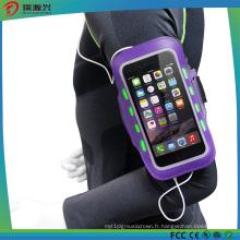 Poche de brassard de sport pour téléphone portable, cas de brassard réfléchissant de sport en plein air