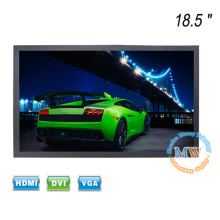 "Metal case TFT color 18.5"" LCD monitor with 12v DC input"