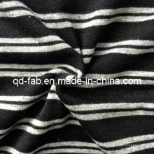 Poly / rayón / hilo de Spandex teñido de tejido de punto (QF13-0697)