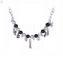 Neueste Design Perlen Quaste Druzy Anhänger Jade Edelstein Halskette