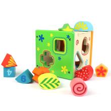 Los mejores niños pequeños de la marca FQ que aprenden a los niños Forma que hace juego el juguete educativo de madera alto