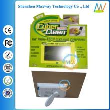 soportes de cartón display con pantalla LCD de 7 pulgadas