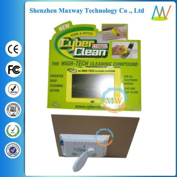 cardboard stands display with 7 inch LCD screen