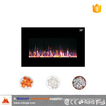"36"" master flame 9cm thin wall mounted electric fireplace heater for decoration"