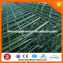 Ornamental double loop wire mesh fence