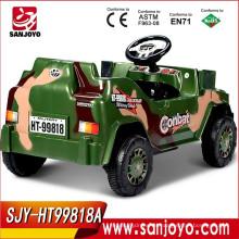 Los niños de la venta de fábrica montan en el coche de juguete de los niños con pilas del jeep con la música HT-98181A