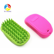 Pet Massage Bath Comb For Long Hair Dog Cat In Green Pet Massage Bath Comb For Long Hair Dog Cat  In Green