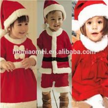 2017 En stock article vente chaude rouge et vert Noël ensemble de vêtements de famille