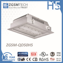 50W IP66 LED Ceiling Recessed Canopy Light for Gas Station