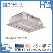 50Вт IP66 светодиодные потолочные Встраиваемые света Сени для бензоколонки