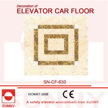 Plancher de PVC de conception d'épissurage pour la décoration de carlingue d'ascenseur (SN-CF-630)
