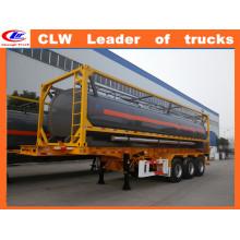 Semi-reboque do depósito de gasolina 42000liters do tanque do óleo do Tri-Eixo de Clw semi