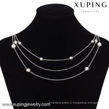 42814 Xuping Fashion Silver chaîne collier de couleur pour les bijoux des femmes