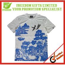Alta Qualidade 100% Algodão Full Print T-shirt