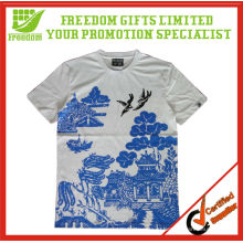 Высокое качество 100% хлопок полный печать футболка