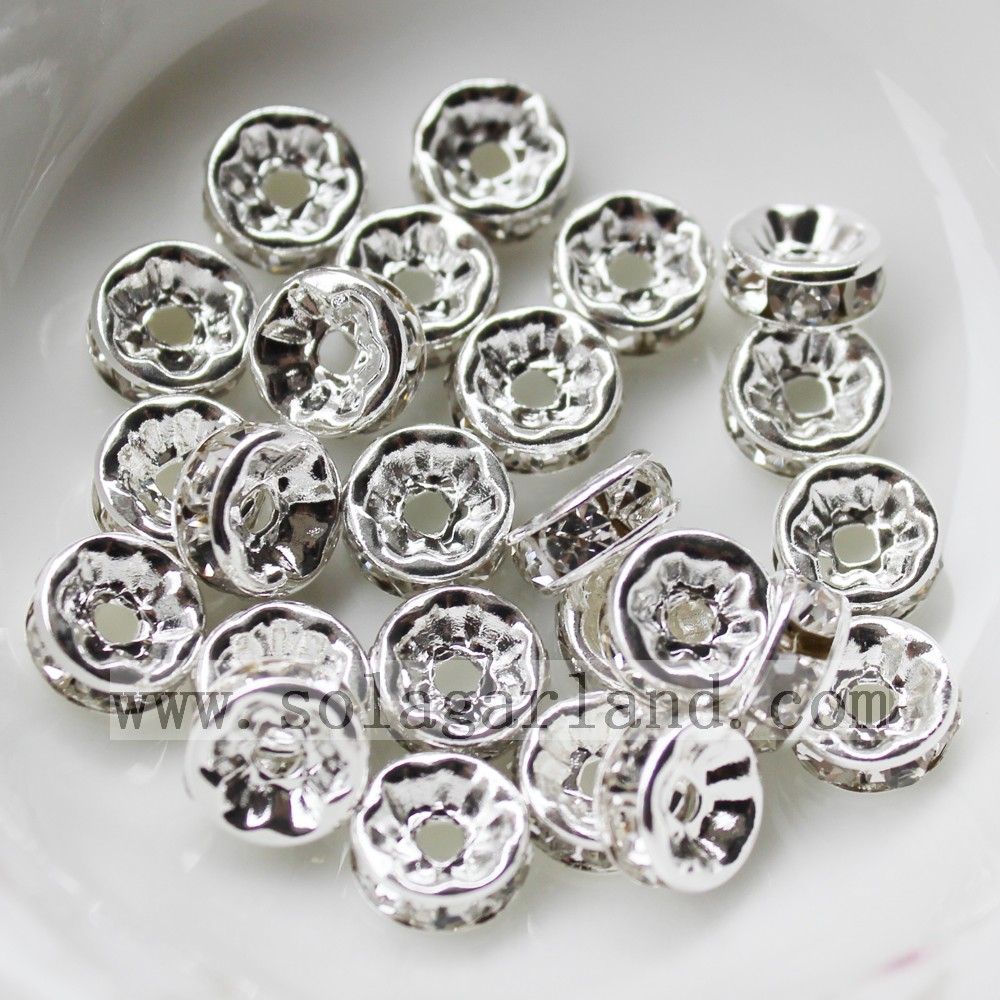 Color Oil Driping Beads Charms