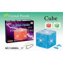 3D puzzle DIY crystal cube puzzle 30 pcs with light