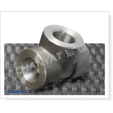 Stainless Steel Forged Socket Welding Fitting Reducing Tee A182 (F50, F51, F52)