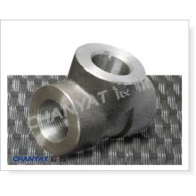 Aço inoxidável forjado soquete soldagem montagem Tee A182 (F50, F51, F52)