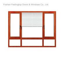 Ventanas de aluminio revestidas de polvo para edificios comerciales (FT-W80)