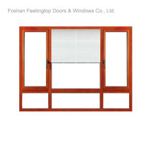 Fenêtres en aluminium à revêtement en poudre pour bâtiments commerciaux (FT-W80)