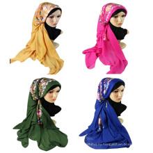 этнический стиль праздника используйте 2017 Весна Лето простые цветы вышитые длинный хлопок шарф шали