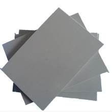 Feuille en plastique rigide grise résistante aux chocs de PVC