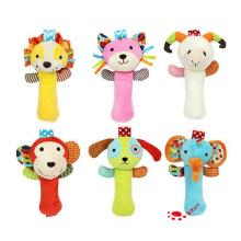 Baby Infant Cartoon Tier Handbell Rasseln Spielzeug