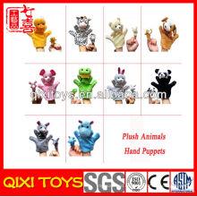 La marioneta de mano del animal doméstico de la felpa de encargo fija los juguetes