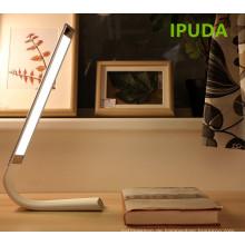 IPUDA Indoor batteriebetriebene Lichter faltbare flexible LED Tischlampe / Schlafzimmer Nachttisch Leselicht mit Touch-Sensor USB