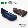 Ladies New Pvc Wedge Heel Fashion Design Casual Shoes