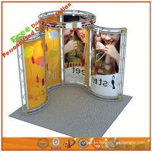 el braguero de aluminio portátil de la exhibición de la cabina del braguero exhibe el soporte de encargo de la feria profesional de la cabina de la fábrica de Shangai