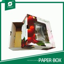 Caixa de embalagem de papel de fruta cereja personalizada