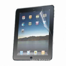 Anti-glare Screen Protector for Apple's iPad, Made of High Quality PET Material