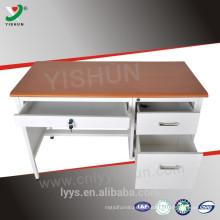 mesa de escritório em aço com gavetas de bloqueio / em metal usado