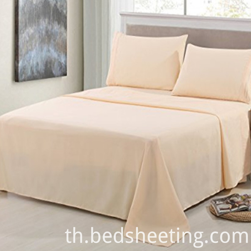 Cvc Solid Dyed Sateen Bed Sheets