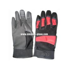 PU Reinforced Palm Terry Knit Mechanic Work Glove