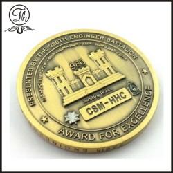 Antique bronze souvenir Award coin