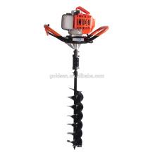 52cc 1700w Hand-Held manual de la cerca de perforador de agujero de perforación de la perforadora de tierra Taladro de agujero de tierra portátil