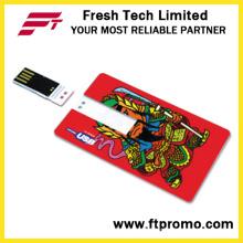 USB-флэш-накопитель со стилем кредитной карты с логотипом (D607)