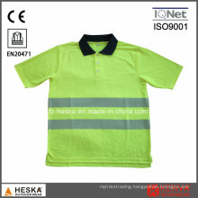 Heat Transfer Tape Knitted Hivis Polo Shirt
